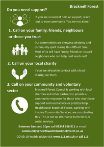 Bracknell Forest Support Info
